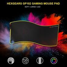 Шестигранный светодиодный коврик для мыши большой толстый 780*5*355 мм вязаный край 7 цветов резиновая основа большой игровой геймер мягкий коврик для мыши Коврик для мыши Мыши