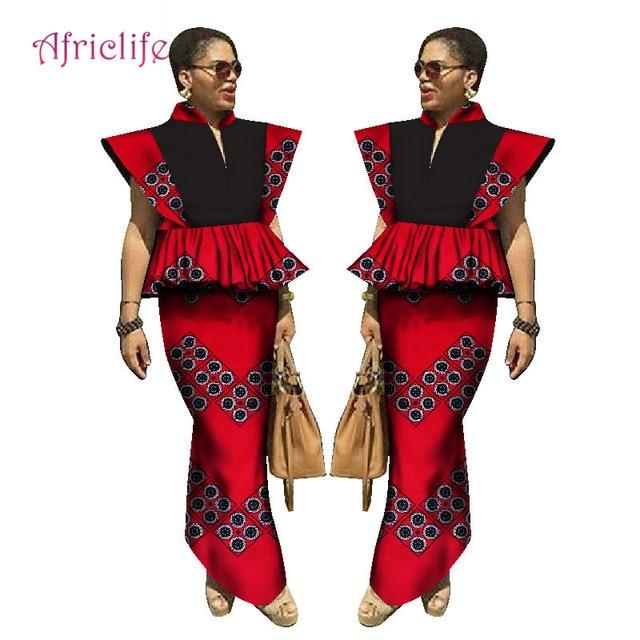 3ddddfc82b4b1b Bas prix 2019 robe africaine Bazin Riche femmes tenues hauts et ...