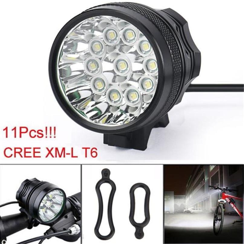 New 28000 Lm 11T6 LED Bicycle lantern bike Headlamp HeadLight Lamp Flashlight Lights 6400mAh battery farol bike light #2A26 (8)