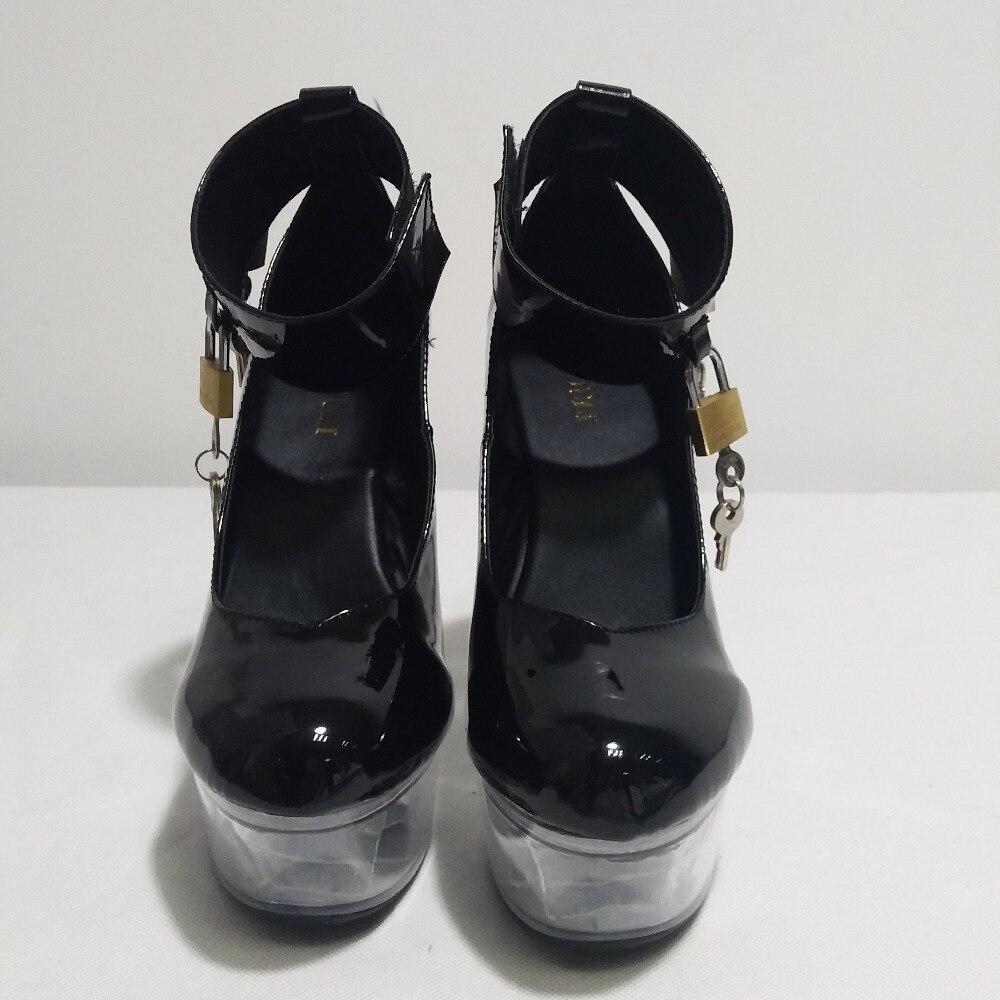 Show Decoración Respuesta Bare Cm plata Cristal Metal 15 Altos Baotou Inferior Zapato Negro Tacones qf5a1zxg