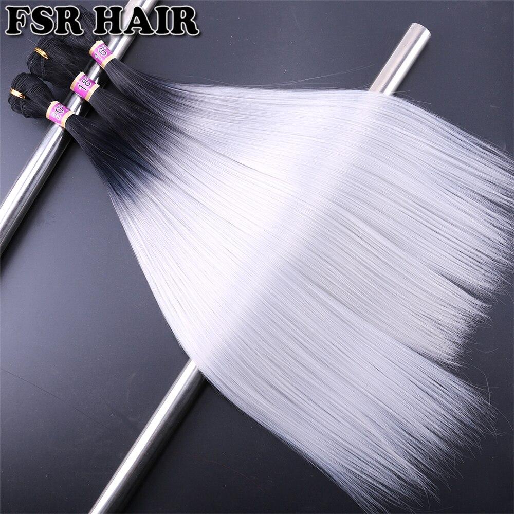 feixes de cabelo reto sedoso 2 pçs lote