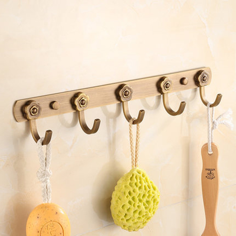 European Retro Bronze Bathroom Towel Holder Hanger Stainless Steel