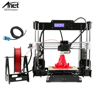 ANTE A8 New Full Colors 3D Printer Prusa I3 Precision With 2 Roll Kit DIY Easy