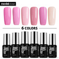 Modelones 6Pcs/Lot Nail Art Salon Pink Color Series UV Nail Gel Polish DIY French Manicure Kit Gel Polish Semi Permanent Gel Lak