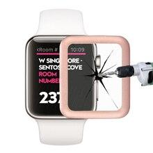 Luxus Rahmen Dünne 2.5D 38/42mm Echt Gehärtetes Glas mit Voller Abdeckung Metall Rand Displayschutzfolie für Apple Bluetooth Smartwatch