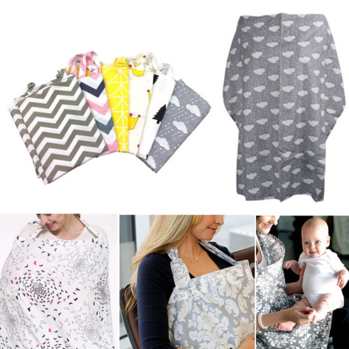 Mum Breastfeeding Nursing Cover Up Baby Infant Poncho Shawl Udder Cotton Blanket