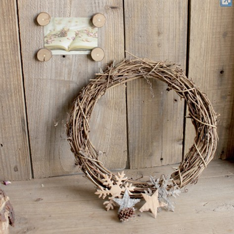 050757 DIY Christmas natural rattan ring Home Furnishing store decoration bare coils dried flowers