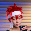 Hot Sale Anime Shokugeki no Soma Yukihira Souma Cosplay Wig Short Straight Red Cartoon COS Hair