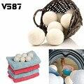 Lavandería Bola 6 unids/pack reutilizable Natural orgánica lavandería bola suavizante Premium orgánico lana bolas secadora