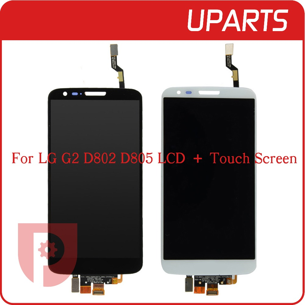 ФОТО 10pcs/lot 100% Tested High Quality For LG G2 D802 D805 Full Lcd Display Touch Screen Digitizer Assembly, Tracking Code