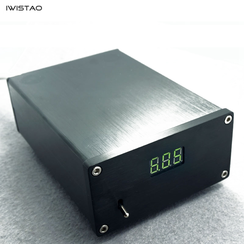 IWISTAO HIFI DC alimentation linéaire entrée externe AC220V pour carte son DAC remplacer interrupteur alimentation plusieurs tensions noir