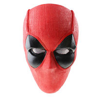 Airsoft Deadpool Mask Cosplay Costume Adult Red Masks Prop accessorie Halloween Pool paintball protective bb gun air wargame