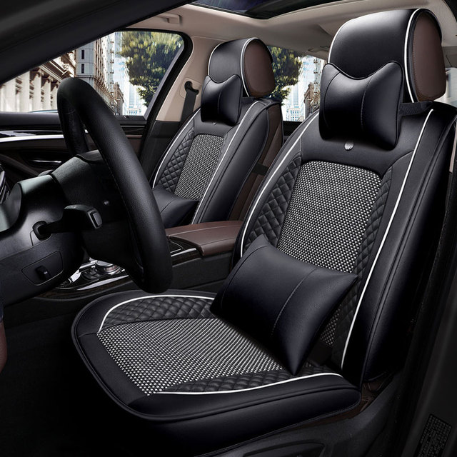 us $234 55 13% off leather car seat cover universal auto seat cushion for nissan almera classic g15 n16 bluebird sylphy cefiro leaf livina qashqai in