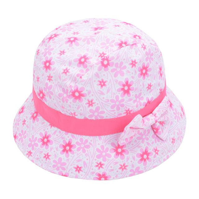 b5c1c00fc9e Summer Kids Bucket Hats Baby Floral Bowknot Bonnet Hats Infant Flower Sun  Hat Polka Dot Bucket Cap Sun Beach Beanie Goldtop