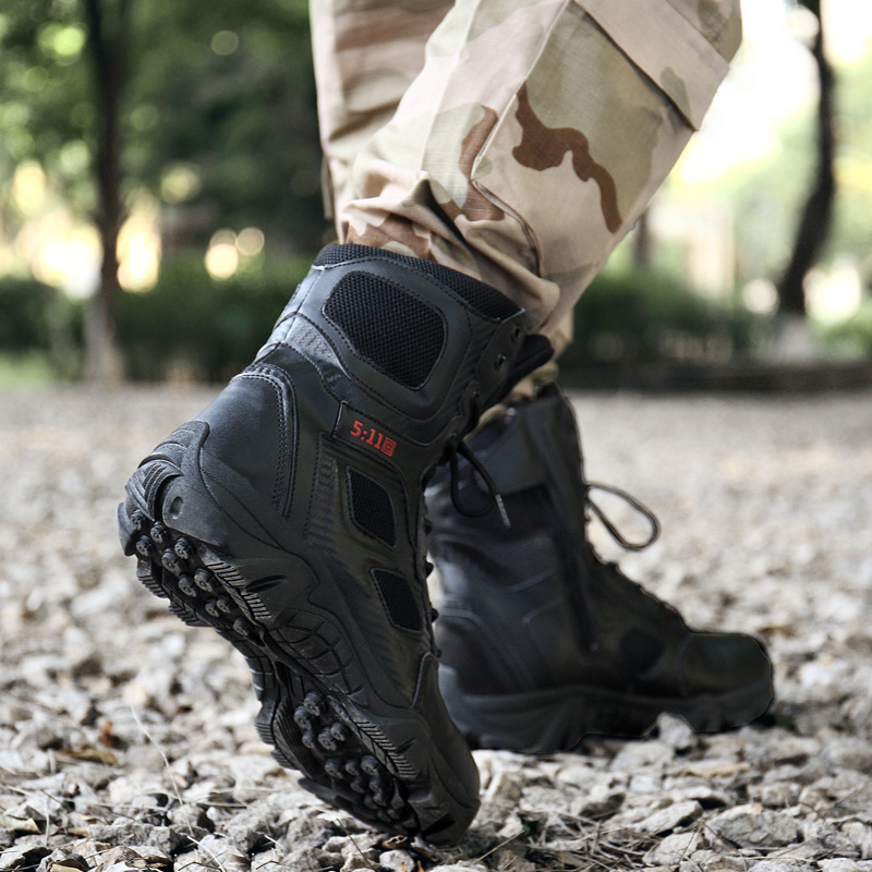 Bright 2018 New Men Military Bots Tactical Boots Desert Combat Outdoor Bot Army Hiking Boots Leather Autumn Ankle Boots Winter Boots Basic Boots Men's Boots
