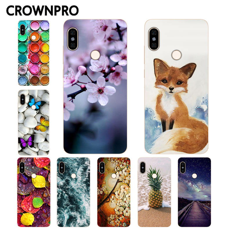 CROWNPRO FOR Funda Xiaomi Redmi Note 5 Case Cover Phone Redmi Note 5 Pro Case Silicone Soft TPU Coque Global Redmi Note 5 Case