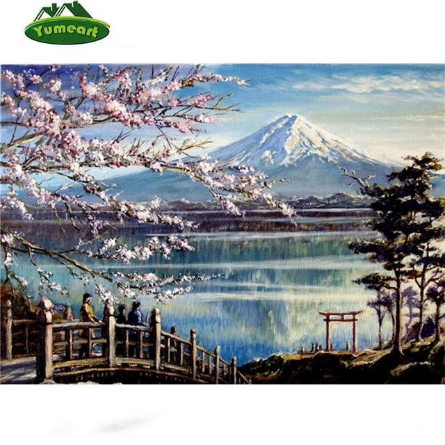 gambar berlian mosaik buatan tangan bunga sakura fuji scenic cross rh id aliexpress com