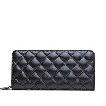 ZENTEII Frauen Echtes Leder Muster Lange Brieftasche