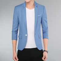 2019 summer Teen men suit jacket slim design mens blazers size S M L XL XXL XXXL XXXXL blazer men