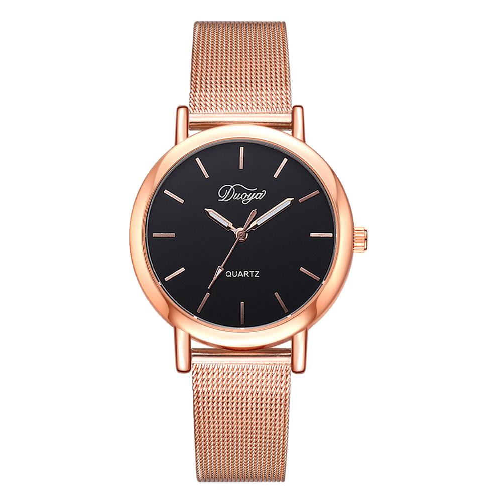 Women Watches 2019 New Luxury Brand Bracelet Watch Rose Gold Dial Lady Dress Quartz Clock Hot montre femme bayan kol saati(China)