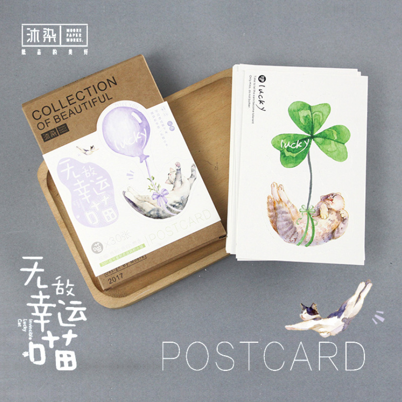 30 pcs/lot Cute plant cat garden postcard landscape greeting card christmas card birthday card message gift cards 30 pcs lot heteromorphism the nutcracker postcard greeting card christmas card birthday card gift cards free shipping