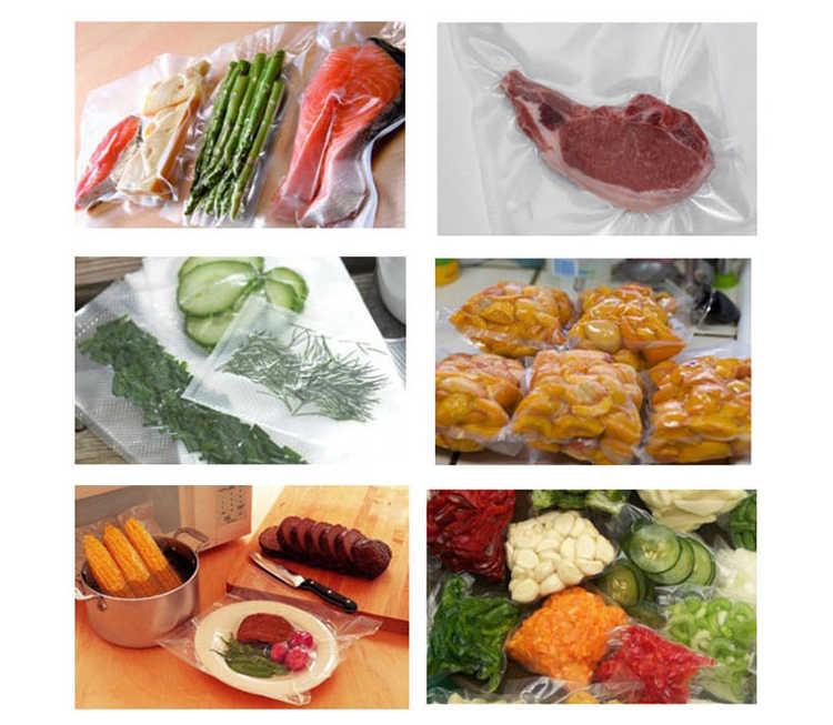 TUANSING 3 Rolls/Lot Mutfak Vakum Paketleme Çantası vakumlama makinesi Gıda Taze Tutmak vakumlu saklama torbaları 12/15/20 /25/28 cm * 500 cm