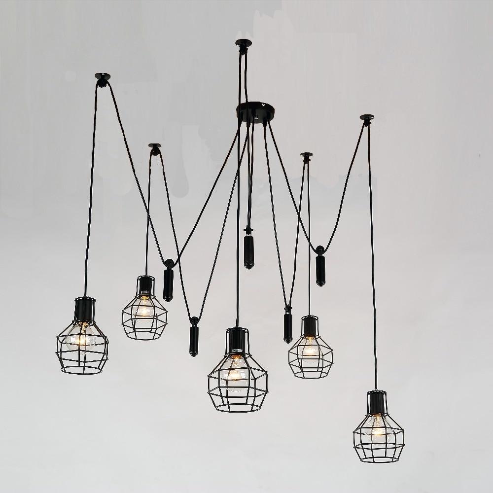 Mordern Art Deco Edison Bulb Light 5 lights Chandelier