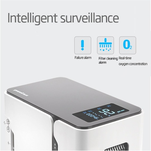 yuwell Home Oxygen Generator Health Care Oxygen Concentrator Oxygenation Making Machine  Air Purifier Water Ozonizers YU300 5L 2