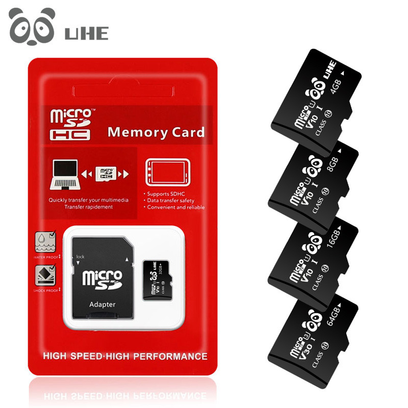 Hot Sale Micro Sd 32GB Class 10 Microsd 64GB 16GB High Speed Flash Memory Card 4GB 8G TF Cards With Adapter Free Shipping