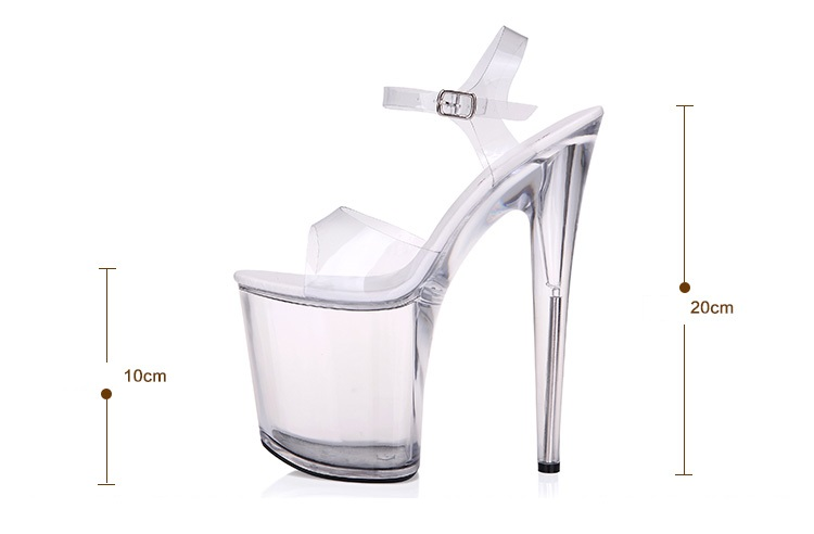 Calendars, Planners & Cards The Best Platform Women Shoes 2017 Transparent Ultra High Heels 15 Cm Waterproof Flowers Sandals Sexy Big Yards Dance Shoes