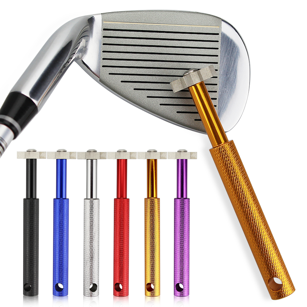 Free Shipping Golf Club Grooving Sharpening Tool Golf Club Sharpener Head Strong Wedge Alloy Wedge Sharpening Cut 6 colors