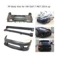 PP Body Kits Front Rear Bumper Lip Spiler Diffuser Side Skirts Apon for Volkswagen Golf 7 VII MK 7 GTI R 2014-2017 A Style