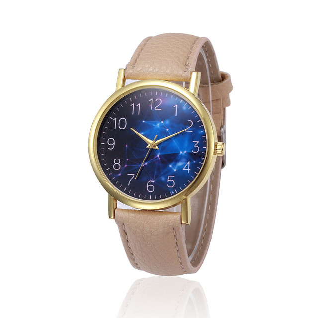 2018 Retro Design Leather Band Analog Alloy Quartz Wrist Watch ladies Watches wo