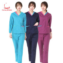 Hand-washing clothes long sleeve dark green brush hands on surgical work clothes separate suit for male and female doctors