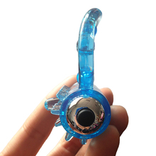 Gay Re-Capable Double Soft Plastic Vibrating Dick Ring