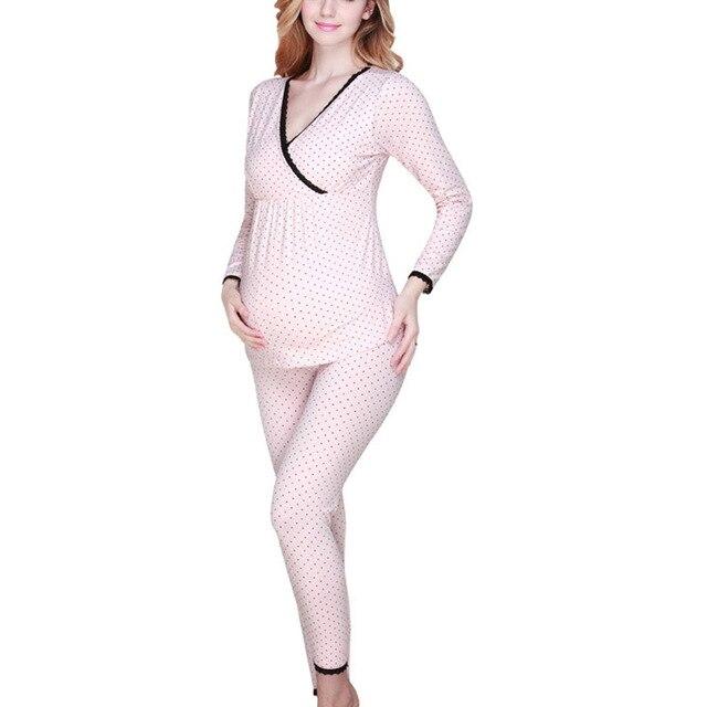 Top Sale Maternity Sleepwear Breast Feeding Clothes for Pregnant Women Homewear Pregnancy Nursing Pajamas Set