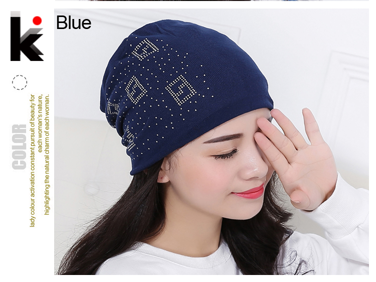 b76c44b0f954d 2016 Beanie Hats For Women Beanies Autumn And Winter Brand Knitted Hat  Turban Diamond Skullies Hip-hop Caps Stocking Ladies Lnit