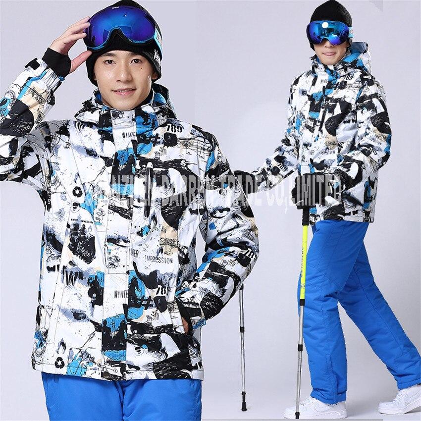 2017 nouveau Hiver Nouveau Meilleur Qualité Respirant et Imperméable À L'eau Veste de Ski hommes Hiver combinaison de Ski Snowboard Veste Épaissir coupe-vent