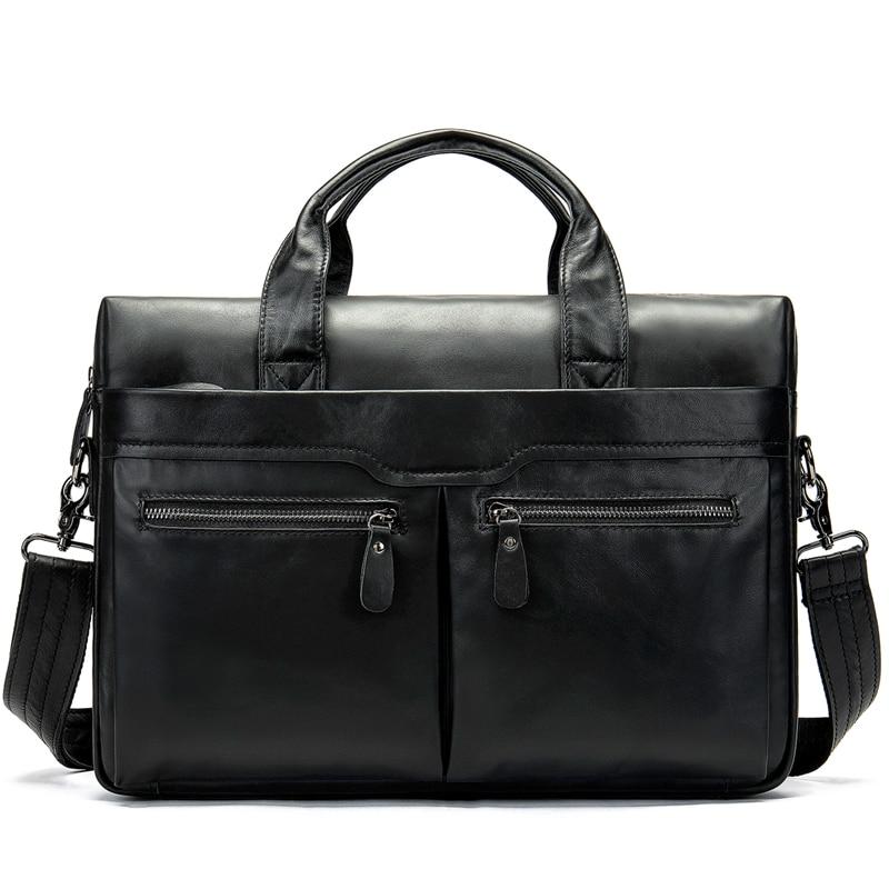 MVA Men's Bag Genuine Leather Men's Shoulder Bags Male Leather Laptop Briefcase Messenger/Crossbody Bags for Men man Handbag 905
