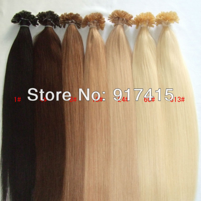 Fusion Prebonded Hair U Tip Keratin Hair Extensions Any Color 16 18