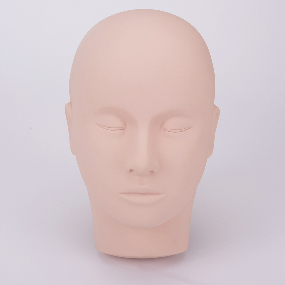 Pro Training Mannequin Flat Head Practice Make Up Eye Lashes Eyelash Extensions  -B118 1pcs new female training silicone mannequin pvc manikin head model wig hair glasses hat display make up face closed eye practice