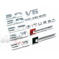 3 0 TURBO BITURBO V6 SUPERCHARGED Badge Sticker Labeling Combination 170