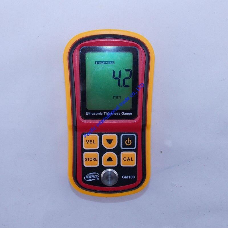 Free Shipping Digital Ultrasonic Thickness Meter Tester Gauge Metal Tester 1.2-220mm GM100  цены