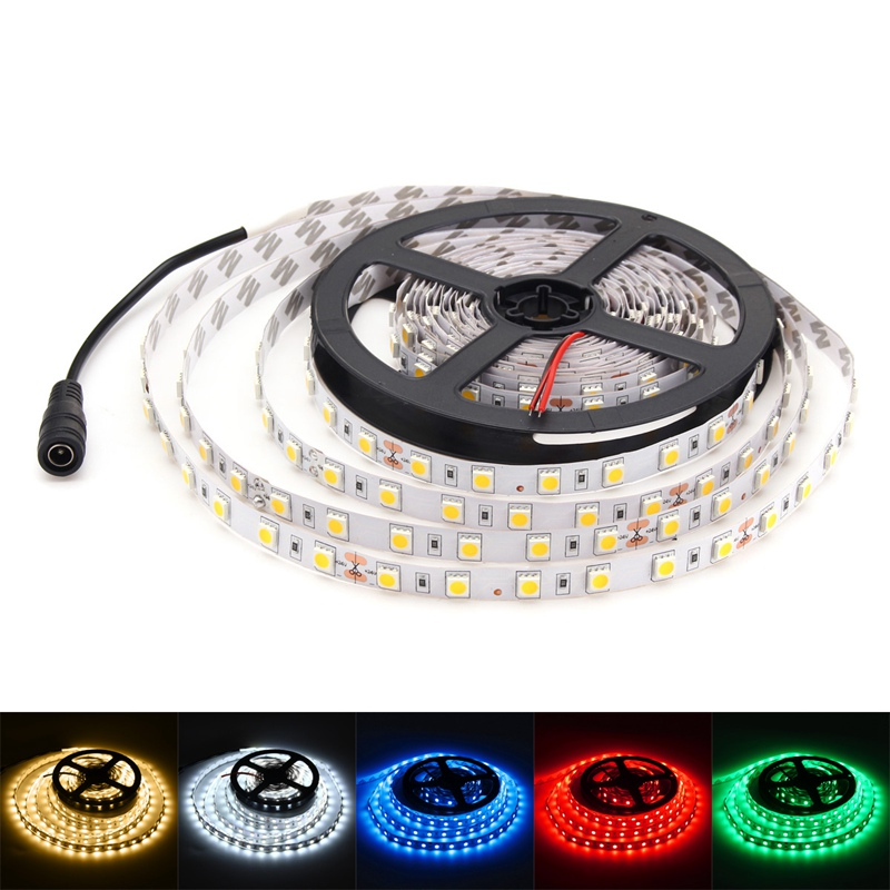 Bright 5050 Tape Light: Non Waterproof 5M DC 24V 300 LED Strip Light 5050 SMD