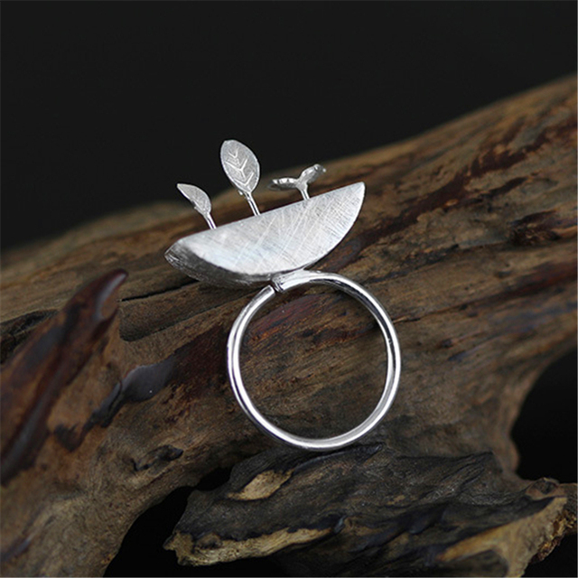 Exclusive Art Design New Handmade Genuine 925 Sterling Silver Jewelry Very Unique My Little Garden Series Ring For Women Gift