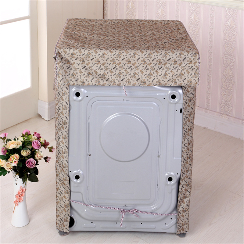 Купить с кэшбэком Front Loading Washing Machine Dust Cover Dustcoat Waterproof Sunscreen Washer Dryer Overall Cover Silver Polyester Durable Cover