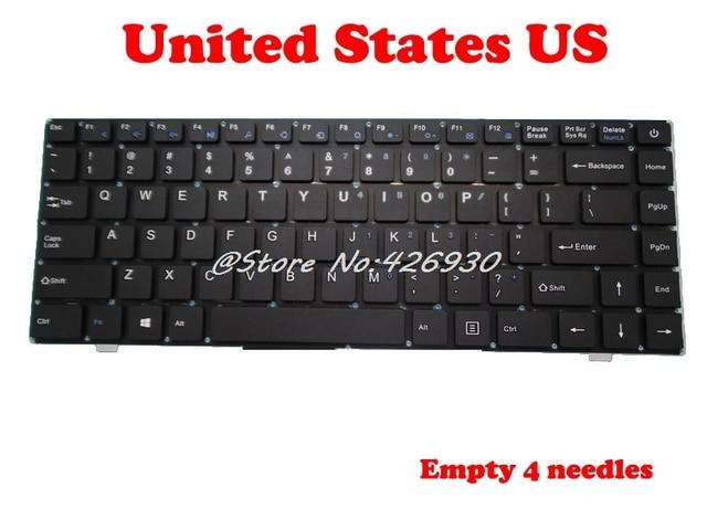 US RU Клавиатура для перемычки для EZbook X4 K621US JM300 2 YJ 485 английском PRIDE K2790 343000075 русском