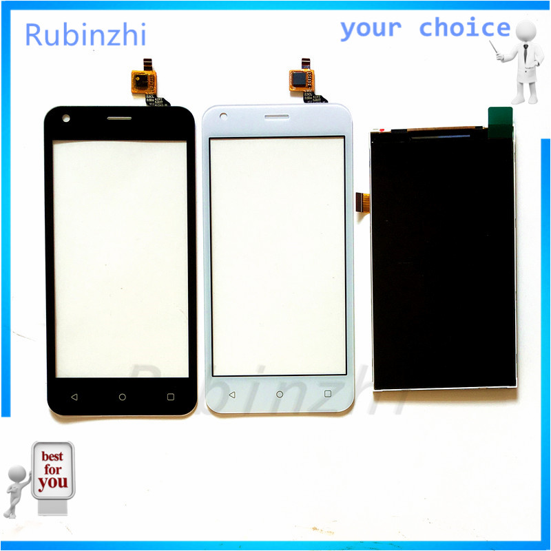RUBINZHI Phone Touchscreen Display+LCD For Fly FS454 nimbus 8 FS 454 Sensor Touch screen Glass LCD Display Digitizer replacement image