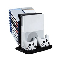 Mutilfunction Stand Holder Cooling Fan Stands W/ USB Storage with Charging Station For XBOX ONE S Slim Console