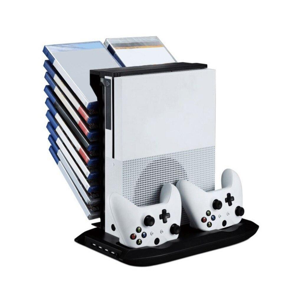 Mutilfunction Stand Titulaire De Refroidissement Ventilateur Est le W/USB De Stockage avec Station De Recharge Pour XBOX ONE S Mince Console